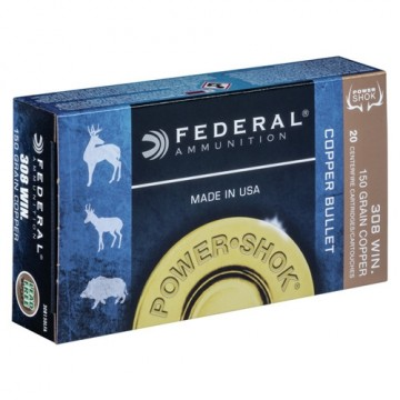 Federal POWER SHOK COPPER 308 WIN 150 grs